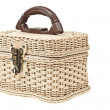 Basket, plastic wicker with protector — Stock Photo