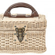 Basket, plastic wicker with protector - Photo