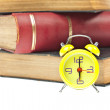 Clock and book as time management concept — Stock Photo