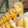 Golden Buddha statue in Thaland temple — Stock Photo
