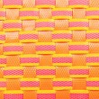 Wicker plastic colorful pattern background — Stock Photo