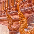 Naga head Thai sculpture made from glazed tile, in Thailand Temp — Stock Photo