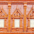 Stock Photo: Window on glazed tile background, Thailand temple