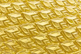 Texture sculpture of Golden Dragon Scales — Stock Photo