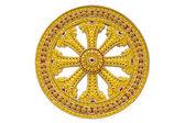 Roda do dhamma do budismo — Foto Stock