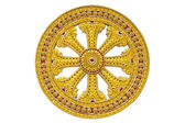 Wheel of dhamma of buddhism — Stock Photo