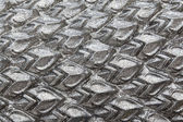 Texture sculpture of Silver Dragon Scales — Stock Photo