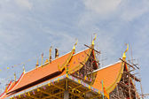 Thai culture,construction Thai Temple — Stock Photo