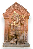 Old Hindu God Ganesh sculpture in Thailand temple — Stock Photo