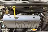 Fluid checker, component of car engine — Stock Photo