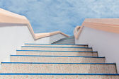 Stairs into sky — Stockfoto