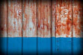 Pattern of rustic zinc fence color — Stock Photo