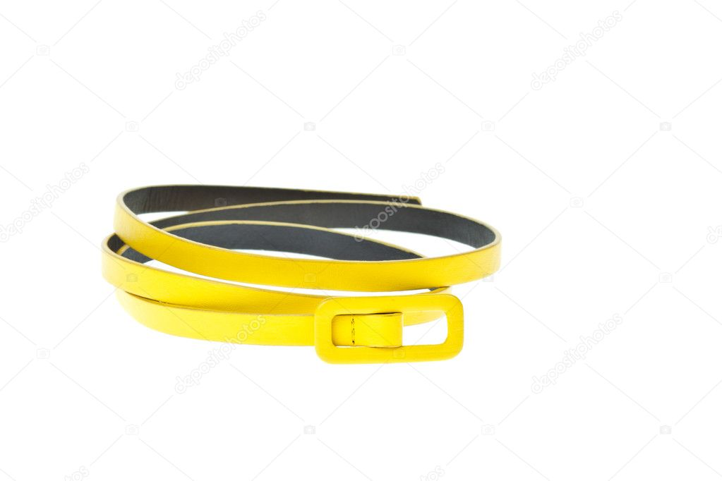 Colorful yellow belt  on white background  Stock Photo #6654953