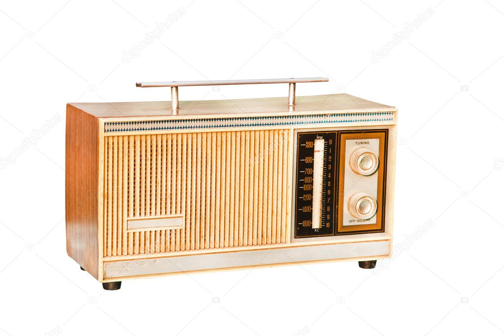 Old radio isolated on white background — Stock Photo #6658867