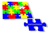 Colorful jigsaw puzzle Empowerment — Stock Photo
