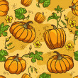 Stock Vector: Pumpkin Background seamless pattern