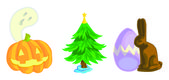 Holiday Icon Pack 1 — Stock Vector