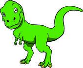 T-rex amichevole — Vettoriale Stock
