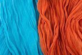 Turquoise Blue and Orange Background — Stock Photo