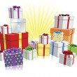 Royalty-Free Stock Imagen vectorial: Many gifts concept
