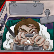 Road rage illustration - Stock Photo