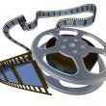 3d rendered film reel — Stock Photo