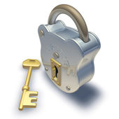 Padlock and key — Stock Photo