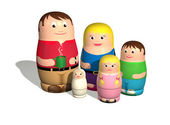 Russian doll family — Stock Photo