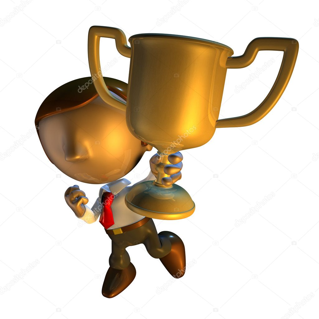 3d render business man character holding or car   hot