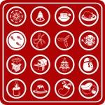 Christmas icon set — Stock Vector #6574774