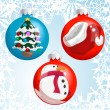 christmas baubles — Stock Vector