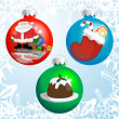Stock Vector: Christmas baubles