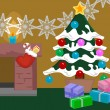 Christmas scene — Vector de stock #6574790