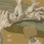 Crucifixion illustration — Stock Vector