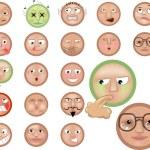 Emoticons icon set — Stock Vector #6574873