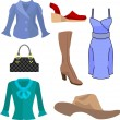 Fashion set - Stock Vector