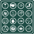 Royalty-Free Stock Imagem Vetorial: A set of food and drink icons