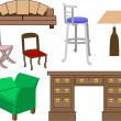 Furniture set — Stockvektor #6574958