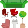 Stock Vector: Furniture set
