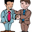 Two men shaking hands — Stock Vector