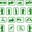 Royalty-Free Stock Vector Image: Hands icon set