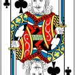 King of clubs - Stock Vector