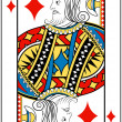 Stock Vector: King of diamonds