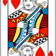 Stock Vector: King of hearts