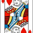 King of hearts — Imagen vectorial