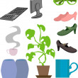 Lifestyle objects — Imagen vectorial