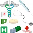 Medical objects or icons - Stock Vector