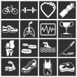 Health and fitness icon set series — Stock Vector