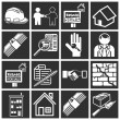 Home buying icon set — Stock Vector