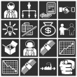 Business icon set - Stok Vektr